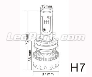 Mini Ampoule LED H7 Tuning