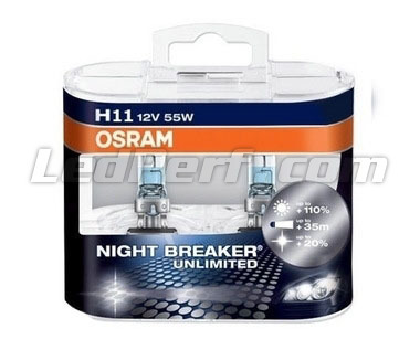 Pack mit 2 Lampen H11 Osram Night Breaker Unlimited