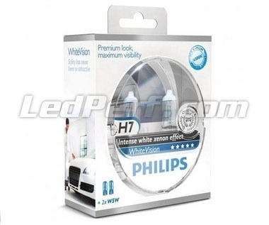 Pack mit 2 Lampen H7 Philips WhiteVision + 2 W5W WhiteVision (Neu!)