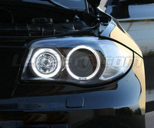 Pack angel eyes à leds (blanc pur) pour BMW Serie 1 phase 2 - MTEC V3.0