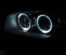 Pack angel eyes à leds (blanc pur) pour BMW Serie 1 phase 1 - Standard
